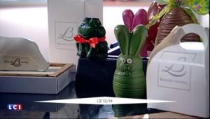 Grenouilles, lapins, sculptures : le relais Bernard Loiseau présente ses chocolats de Pâques