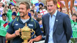 Jonny Wilkinson et le prince Harry le 10 juin 2015 à Londres