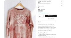 "Capture d'écran Urban Outfitters, sweat ""Kent State University"" 15/09/2014"