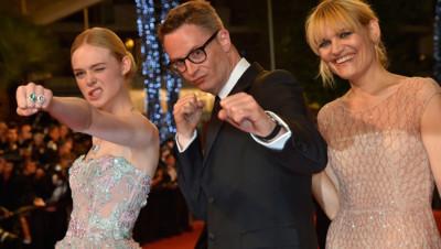 Elle Fanning et Nicolas Winding Refn à Cannes