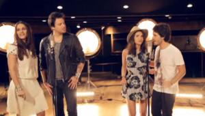 """Le premier single """"Désir Désir"""", en hommage au Top 50, est interprété par Joyce Jonathan, Elisa Tovati, Mickaël Miro et Brice Conrad."""