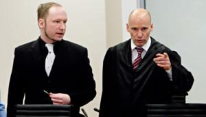 Anders Behring Breivik, lors de son procès, le 20 avril 2012.