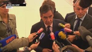 François Fillon au siège de l'UMP