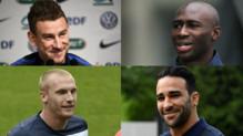Laurent Koscielny, Eliaquim Mangala, Jérémy Mathieu et Adil Rami.