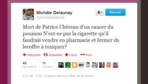 Tweet de Michèle Delnaunay sur la mort de Patrice Chéreau.