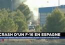 """Crash du F-16 en Espagne : """"Il y a eu beaucoup d'explosions, beaucoup d'incendies"""""""
