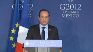 François Hollande, le 19 juin 2012, au G20 de Los Cabos