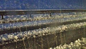 La neige sur l'A40 en février 2013