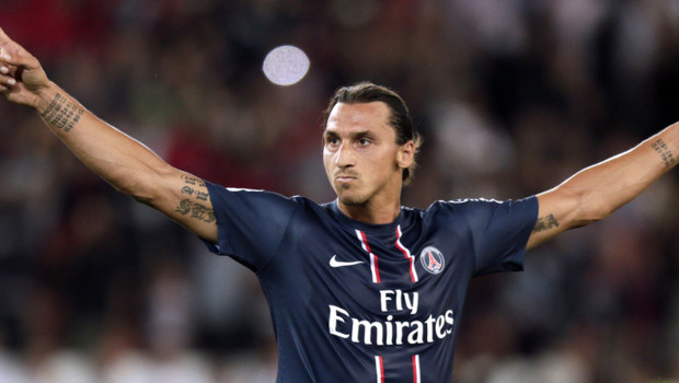 Zlatan Ibrahimovic lors de PSG-Lorient, le 11 aot 2012.