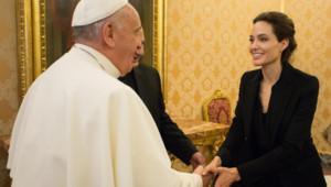 Angelina Jolie et le pape François