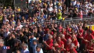 Attentat à Nice : une minute de silence a été onservée à l'arrivée de la 13e étape du Tour de France