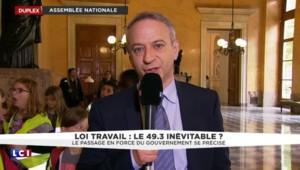 """Loi Travail: """"Je déconseille au gouvernement d'utiliser le 49-3"""", déclare le frondeur Baumel"""