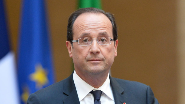 Franois Hollande lors d&#039;une confrence de presse  Rome, le 14 juin 2012. 