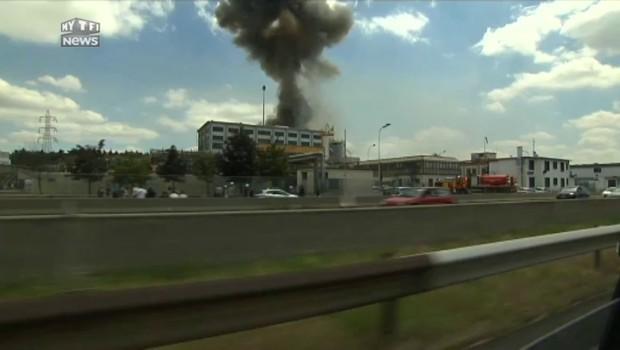 Important incendie dans une usine chimique Seveso près de Lyon