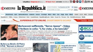 repubblica une agression berlusconi