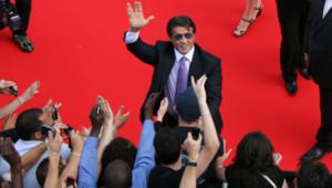Sylvester Stallone lors de sa visite à Rosny-Sous-Bois en Seine-Saint-Denis le 5 août 2010.