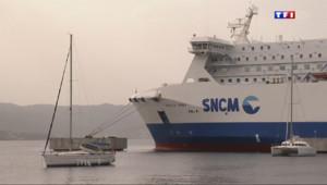 Le 13 heures du 4 juillet 2014 : Corse : affrontements entre marins de la SNCM et professionnels paralys�par la gr� - 441.801