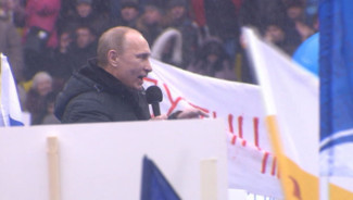 Meeting de Poutine au stade Loujniki de Moscou, 23/2/12