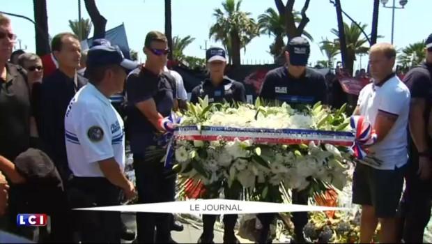 Attentat de Nice : l'hommage des policiers municipaux aux victimes