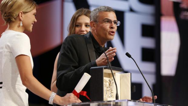 Abdellatif Kechiche et ses deux interprètes Palme d'or pour