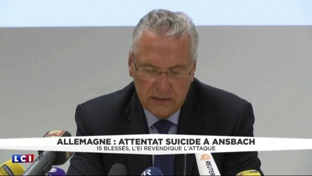 """Attentat-suicide à Ansbach : """"Il s'agit sans aucun doute d'un attentat de nature islamiste"""""""