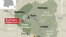 Carte de Boulogne-Billancourt, dans les Hauts-de-Seine.