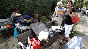 Des habitants d'Antibes sinistrés.