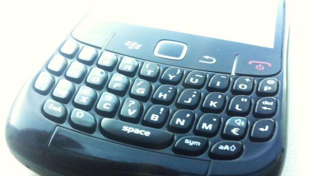 Le clavier d'un Blackberry