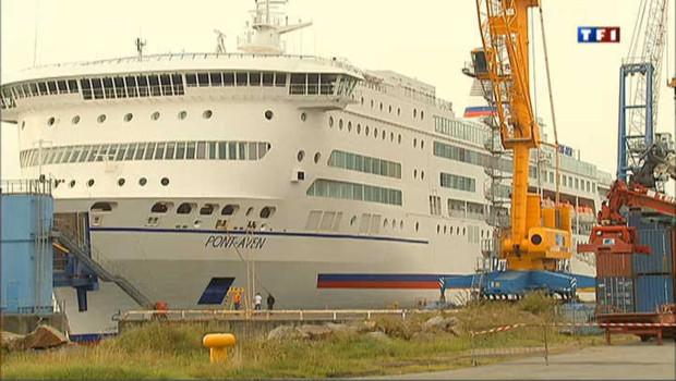 Navire de la Brittany Ferries à quai (archives)