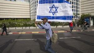 Un manifestant israélien
