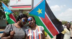Des Sud-Soudanaises lors des célébrations des 3 ans d'indépendance du pays, le 9 juillet 2014