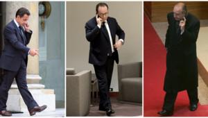 François Hollande Nicolas Sarkozy et jacques chirac