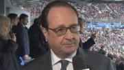 Hollande était samedi au Stade de France pour la première fois depuis les attentats du 13 novembre