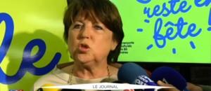 """Martine Aubry : """"Pas de braderie mais Lille reste en fête!"""""""