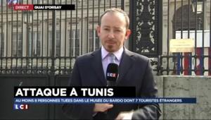 """Attaque à Tunis : le Quai d'Orsay """"cherche à vérifier les informations de Tunisie"""""""
