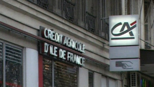 TF1/LCI - Façade d'une agence du Crédit agricole