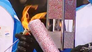 La flamme olympique des JO de Pékin 2008
