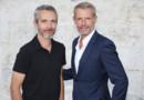 Lambert Wilson et Jérôme Salle, le réalisateur de l'Odyssée, à la 9e édition du festival d'Angoulême, le 23 août 2016.
