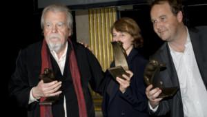Michael Lonsdale et Xavier Beauvois lors de la cérémonie des Prix Lumières 2011