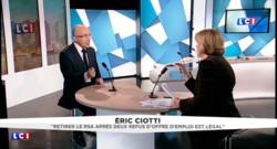 """Suspension du RSA en cas de refus de 2 offres d'emploi : """"C'est légal"""", Eric Ciotti s'explique"""