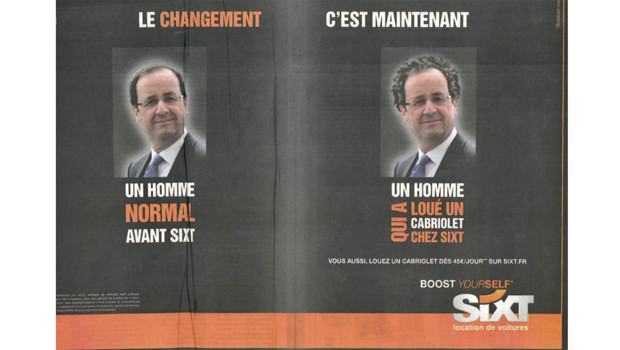 Le slogan de campagne de Franois Hollande inspire les publicitaires