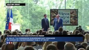 Manuel Valls ovationné par les chefs d'entreprises