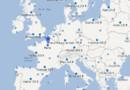 Une carte du service Google Flight Search