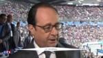 Hollande de retour au Stade de France, trois mois après les attentats
