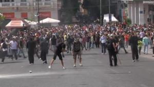Manifestation en Grèce le 5 octobre 2011.