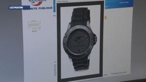 Une montre commercialisée par la police nationale.