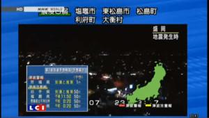 Fort séisme dans le nord-est du Japon : les images