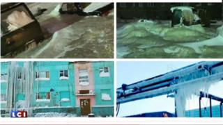 Doudinka, cette ville de Sibérie transformée en glaçon