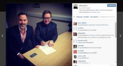 Capture du compte Instagram d'Elton John pour son mariage avec David Furnish