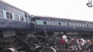 Déraillement d'un train au nord e l'Inde le 10 juillet 2011.